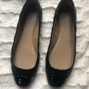 Quilted leather ballet flats
